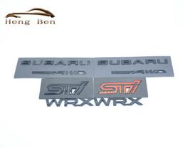 HB 3D Excelente Liso Insignia de Metal Brillante STI Emblema de la Etiqueta Engomada para Subaru STI WRX Car Styling Accesorios desde fabricantes