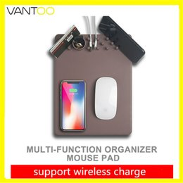 Wholesale Mouse Custom - Wireless Mouse Mat Charger Multifunction Fast Charging Mat Pad For iphone X 8 Samsung S8 Plus S7 Phone Holder