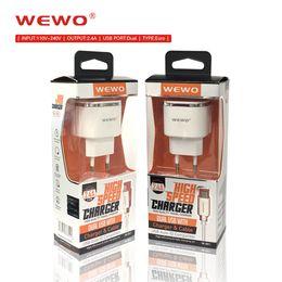 Telemóvel i on-line-WEWO carregador de telefone portátil dual usb carregador de celular 2.4A saída mini carregadores de viagem para i telefone samsung xiaomi huawei cellphones