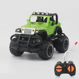 Wholesale flash simulation - 1:43 Mini Four Links Jeep Remote Control Car Portable Cars Model Children Simulation Cross Country Toys 15 8ae W