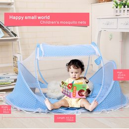 Wholesale baby folding mosquito net - Children's mosquito nets Baby mosquito folding nets, independent space for play, optional ice mat, ice silk pillow.
