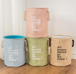 2019 льняная джутовая сумка Складная сумка для белья организатор хранения корзины Ева белье джут грязные корзины для стирки стиральная главная ванная комната толстые 2 слоя скидка льняная джутовая сумка