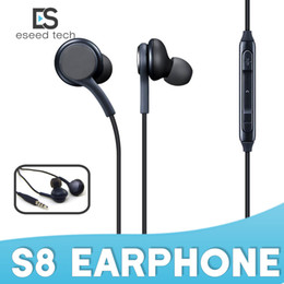 Wholesale Noise Sounds - For Samsung GALAXY S8 S8+plus Stereo sound earphone earbuds High quality earphones with wired In-Ear Headset No Logo