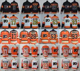 dd5227114ff Philadelphia Flyers 28 Claude Giroux Jersey Hockey 9 Provorov 11 Konecny 53  Gostisbehere 2017 Stadium Series 2012 Winter Classic discount flyers winter  ...