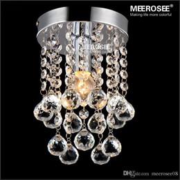 pequeña lámpara de pasillo Rebajas 1 luz Lámpara de araña de cristal Lámpara de brillo de cristal claro pequeña para pasillo Escalera Pasillo pasillo porche luz