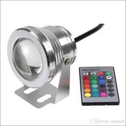 Carcasa de luz bajo el agua online-Luces LED subacuáticas de 10W RGB LED luces subacuáticas LED con corlor que cambia la carcasa de aluminio IP68