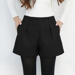 Короткие сапоги короткие онлайн-2017 Autumn Winter Women Shorts High Waist Woolen Shorts Female Plus Size Casual Boot Cut Jeans Women Winter