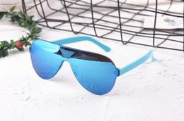 2019 óculos de sol piloto mercúrio Crianças Óculos De Sol Legal Piloto Mercury Escudo Óculos de Proteção Moda Sem Aro Óculos de Sol Eyewear Para Meninas E Menino Misturar Cores Óculos baratos óculos de sol piloto mercúrio barato