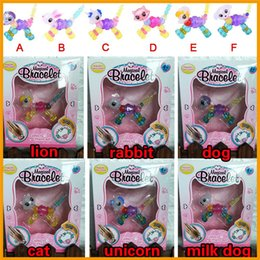 Hot sell Magic Collectible Animal pet beads Toys Magic Pet Beads DIY Bracelets Girls Wrist Beads Christmas Gifts 6 design mix unicorn horse