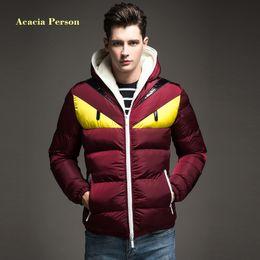 1c60a8764ad 2018 New Fashion Design Men s Winter Jacket Big Eye Contrast Cotton-padded Parka  Puffer Hooded Coat Veste Homme Hiver black men puffer jacket parka on sale