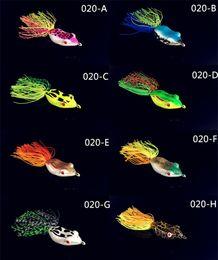 Угорь онлайн-Рэй лягушка мягкие резиновые полые тела Blackfish рыбалка приманки 5.5 см цвет смешивания моделирования Bullfrog угорь приманки крюк С должны
