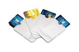 Wholesale pc vaccum - 100 PCS Anti Theft  Protector Case RFID Blocking Metal Shielding Foil Safety Sleeves