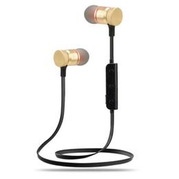 Микро-гарнитура bluetooth гарнитура онлайн-M90 Беспроводная Bluetooth-гарнитура музыка аудио Спорт в ухо шумоподавления наушники Micro-USB порт для телефона фитнес Run