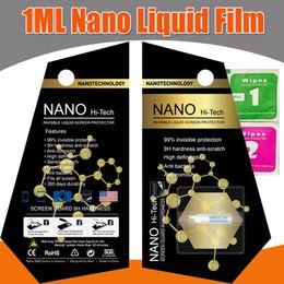 Wholesale Ipad Cover Protector - 1ML NANO Technology Liquid Screen Protector 3D Glass Invisible Screen Protector Full Cover Anti-Scratch For iPhone iPad Samsung Smartphones