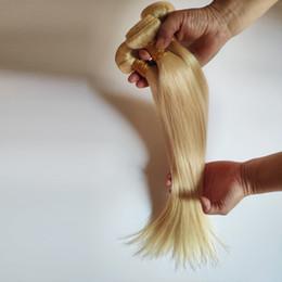Pelo de la señora de china online-La armadura del pelo de la India Blond 613 # Straight 100g 3pcs / package Euramerican damas extensiones de cabello de alta calidad Suave China outlet de fábrica