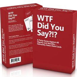 2018 Il più nuovo wtf hai detto Card Game Board Giochi Chess Explosion cat card Divertente decompressione giocattolo da yu gi oh natale fornitori