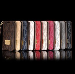 Wholesale Slot Case - Luxury Brand Wallet Phone case Leather Full Protective Back Cover Slot Flip Cases Shell for IPhone X 8 7 6 6s plus