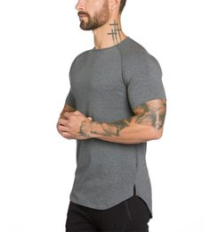 Wholesale Fitness Engineering - Brand gyms clothing fitness t shirt men fashion extend hip hop summer short sleeve t-shirt cotton bodybuilding muscle engineers