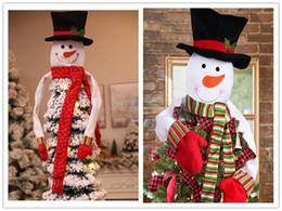 снежные шарфы Скидка Новый рождественский Снеговик украшения Рождественская елка яркий снежный человек головы украшения с шарфом рождественские украшения Украшения аппликация для дерева CFG07