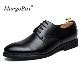 Wholesale British Sneakers - Brand Patent Leather Shoes Men Black Brown Adult Oxford Sneakers Youth Fashion Men's Shoes British style Office Footwear Male
