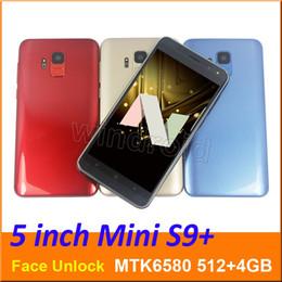 2019 4g lt chinesischen android entriegelt 5,0 Zoll Mini S9 Quad Core Smartphone MTK6580 512 + 4G Android 7.0 Dual SIM CAM 5MP 3G WCDMA entsperrt Mobile Gesten Gesicht entsperren Edge Panels