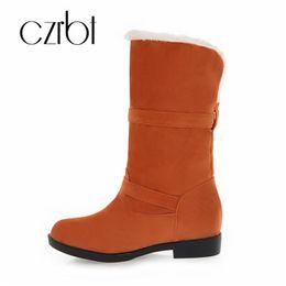 CZRBT novos sapatos das mulheres elegantes botas de neve sexy plana antiderrapante desgaste-resistente das mulheres botas de veludo sapatos quentes de