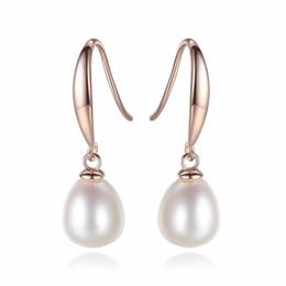 Neue Einfache Und Stilvolle Sterling Silber Perle Wassertropfen Ohrringe Für Frauen Marke Schmuck Jahrestag Geschenk Senden Freies box von Fabrikanten