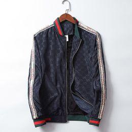 GG 19 Marca Designer de Luxo Mens Jaquetas de Moda de Nova Casuais Impresso Outerwear Casacos Plus Size Preto Vermelho Sportswear Zipper Primavera Outono de