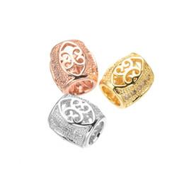 fiore per gioielli Sconti Accessori fatti a mano gioielli fai-da-te all'ingrosso Modello di fiore Hollow Out Branelli allentati del distanziatore Charms Perle di sfere Connettori Ganci Catenacci Componenti