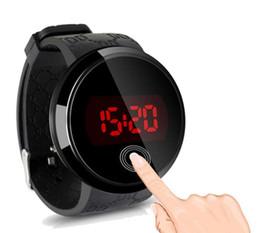 espléndido Más Nuevo Caliente Relogio Moda Impermeable Reloj Para Hombre LED Fecha Pantalla Táctil Reloj de Silicona Muñeca Reloj Negro Electrónico desde fabricantes