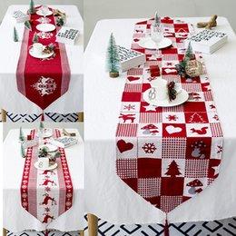 2019 Nuovo Anno Di Natale Tovaglia di Lino Antipolvere Copertura di Tabella X-mas Cena Tovaglia Home Party Decor Panno di lino da