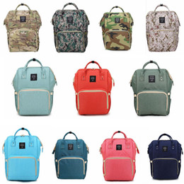 Wholesale Printing Large - Mummy Maternity Nappy Bag Large Capacity Baby Bag Travel Backpack Desiger Nursing Bag for Baby Care Diaper Bags 20pcs OOA2184