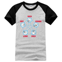 e74103fa Rock Paper Scissors Lizard Spock Adult funny print T-Shirt men hip hop tee  100% cotton casual 2017 new fashion summer t shirts discount scissor shirt
