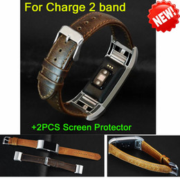 Wholesale Arrival Activities - NEW Arrival Leather Strap Watchband For Fitbit charge 2 band wristband for charge 2 strap Heart Rate & Activity Tracker bracelet
