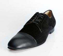 I più nuovi Mocassini stringati neri Mocassini in pelle scamosciata e in pelle scarpe da smoking Prom Dress Scarpe da sposa Uomo Plus Size EU39-46 da