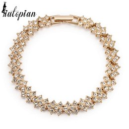 Wholesale stellux austrian crystals - whole saleIutopian Valentine's Day Gift Luxurious Bracelet For Women Pulseiras With Austrian Crystal Stellux CZ Anti Allergy #RG31322