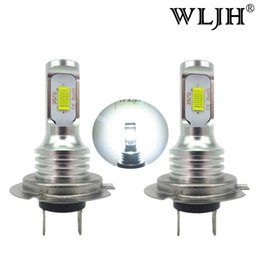 Wholesale H7 Led Canbus - WLJH Canbus Led H7 Fog Light Bulb Auto Car Motor Truck Driving Daytime Running Light H7 LED Bulbs 12V 24V for Cars