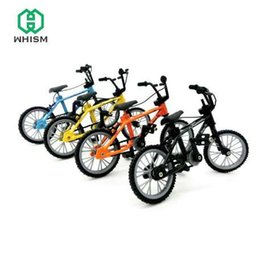 miniaturas de bicicletas Rebajas WHISM Mini Finger Bike Micro Paisaje Mountain Bike Fingers Bike Niños Juguete Landschaft Decoraciones Miniaturas