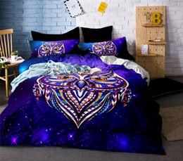 Cama de la reina del búho online-Owl Bedding Sets Size 3Pcs Funda nórdica para USA Europe Conjunto de sábanas for Russia Bedclothes Pink