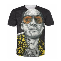 Wholesale Las Vegas Wholesalers - SOSHIRL Fear And Loathing In Las Vegas T Shirt 3d All Over Print Man T Shirt Casual Shirts For Unisex Harajuku Tee