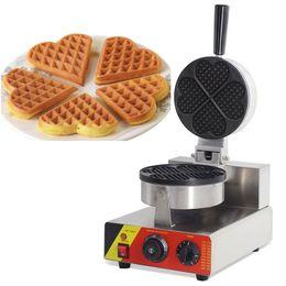 Elétrico grill placa on-line-Comercial elétrica 220 v 110 v belga 4 pcs Mini em forma de coração máquina de fabricantes de Waffle Baker Iron Grill fazendo placa