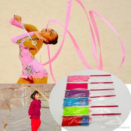 7451d3dd3 2019 arte rítmica ginástica 4M Ginástica Dança Fita Ginástica Arte Rítmica  Ginástica Ballet Streamer Twirling Rod