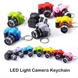 Fotocamera catene chiave online-Creative della fotocamera Led portachiavi con il suono LED chiave della torcia elettrica giocattolo catena Fancy portachiavi Incredibile regalo portachiavi