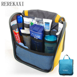 Wholesale Pink Wash Bag - Casual Polyester Lady Cosmetics Cosmetic Bag Travel Portable Cosmetics Shower Washing Storage Bags Beautician Makeup Bag