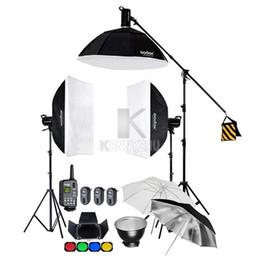 2019 комплект подставки для софтбокса Godox SK400 1200W / 3x 400WS Studio Flash Strobe Lighting Kit + 60x90cm Softbox + 2.8M Light Stand & Boom Arm Trigger FT-16 скидка комплект подставки для софтбокса
