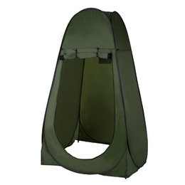 Wholesale Fold Up Tent - Portable Outdoor Pop Up Tent Camping Shower Bathroom Privacy Toilet Changing Room Shelter Single Moving Folding Tents drop shipp