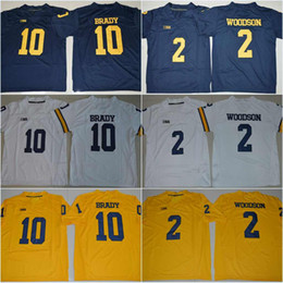 jersey harbaugh Desconto # 10 Tom Brady # 4 Jim Harbaugh # 5 Jabrill Pimentas # 2 Charles Woodson # 21 Desmond Howard 2018 Novo Michigan Wolverines College Costurado Jerseys
