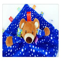 chevron baby decken Rabatt Infant Komfort Handtuch Schlafen Beschwichtigen Handtuch Kinderkrankheiten Tuch Cartoon Tier Plüsch Puppe Spielzeug für 0-18 Monate Baby - Kann Beißen Heißer Verkauf