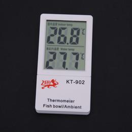 LCD Dijital Termometre Çift Ekran için Kapalı ve Akvaryum Balık Sürüngen Akvaryum Tankı Su Sıcaklığı Ölçer Termometre KT-902 cheap fish water thermometer nereden balık su termometresi tedarikçiler