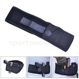 Wholesale Gun Waist - Universal Adjustable Waist Gun Holster Belly Band Holster for Concealed Carry Fits Gun Ruger LCP and Similar Sized Gun